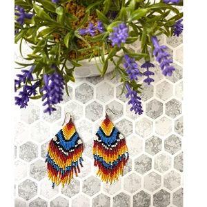 Jewelry - Beaded colorful earrings ❤️